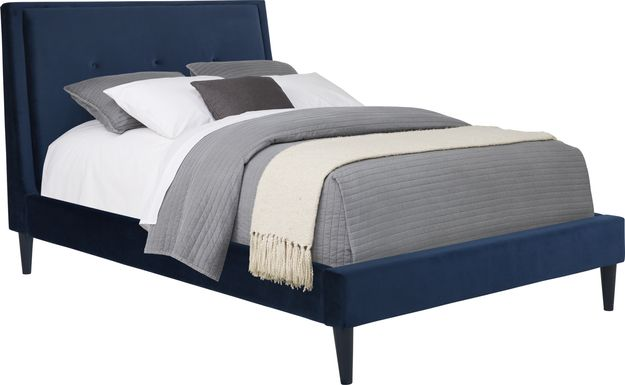 Kids Jaidyn Blue 3 Pc Full Upholstered Bed