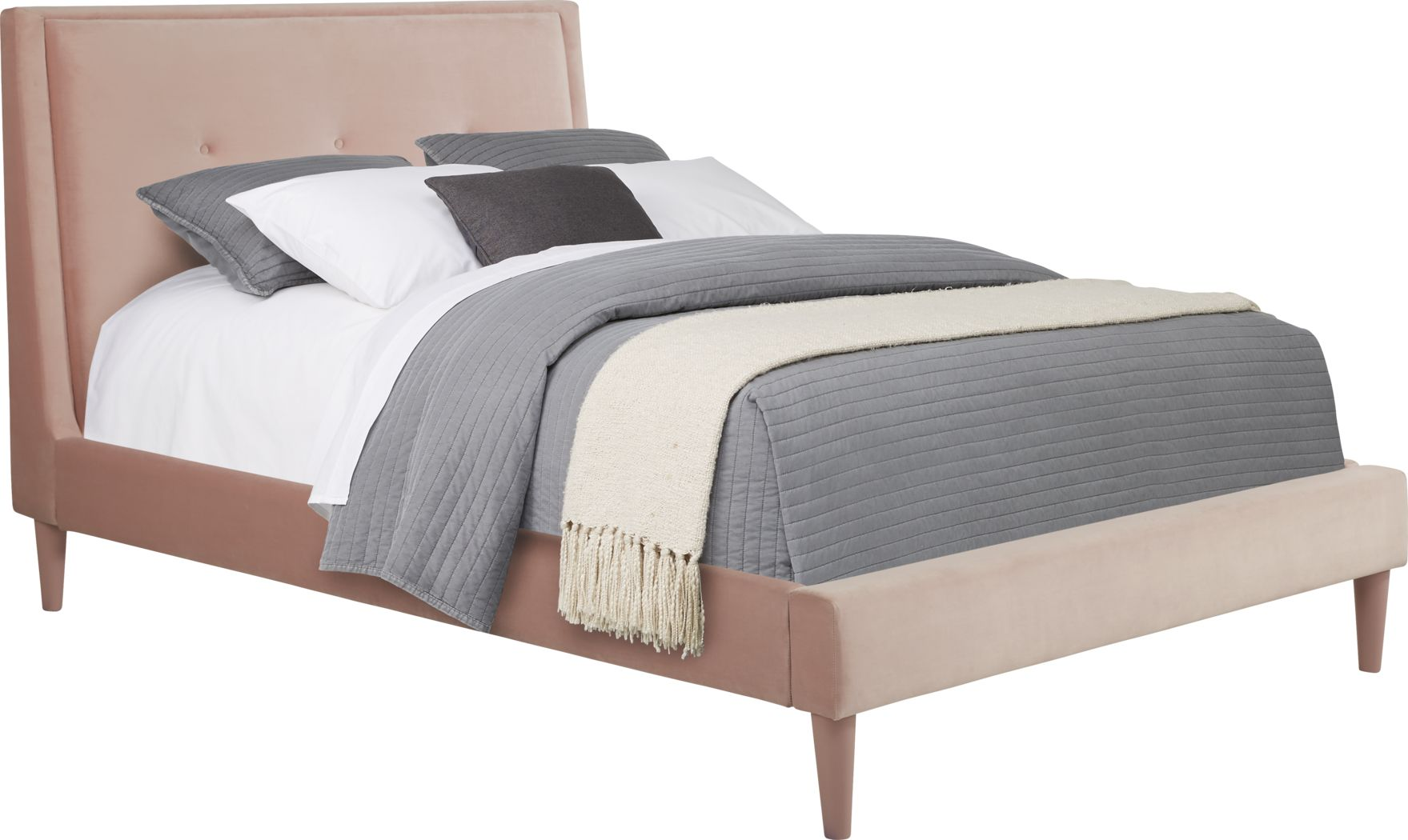 Kids Jaidyn Pink 3 Pc Full Upholstered Bed