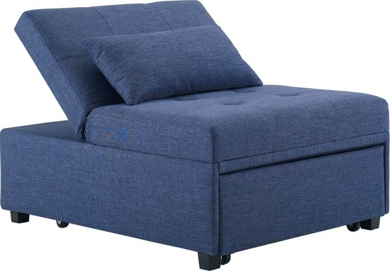 Kids Jaxton Blue Convertible Chair