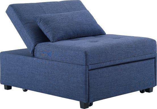 Kids Jaxton Blue Convertible Chair