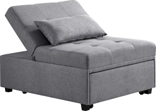 Kids Jaxton Gray Convertible Chair
