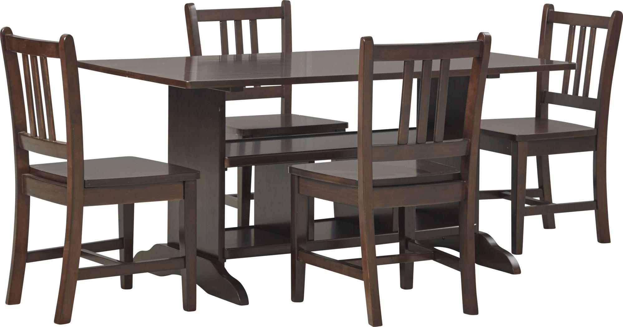 Kids Jo Jo Espresso 5 Pc Storage Table Set
