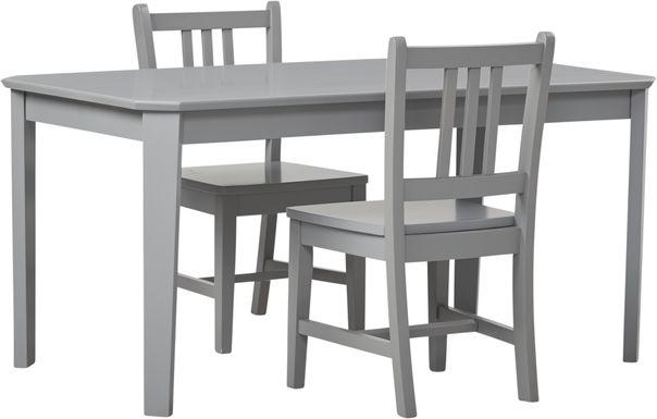 Kids Jo Jo Gray 3 Pc Table Set