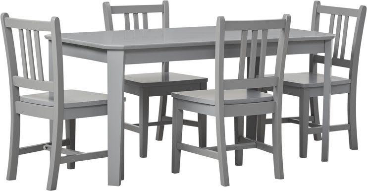 Kids Jo Jo Gray 5 Pc Table Set