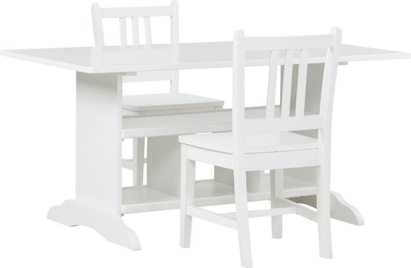 Kids Jo Jo White 3 Pc Storage Table Set