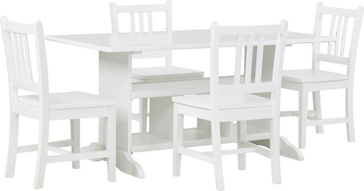 Kids Jo Jo White 5 Pc Storage Table Set