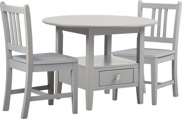 Kids Keagan Gray 3 Pc Table Set