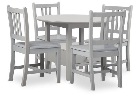 Kids Keagan Gray 5 Pc Table Set