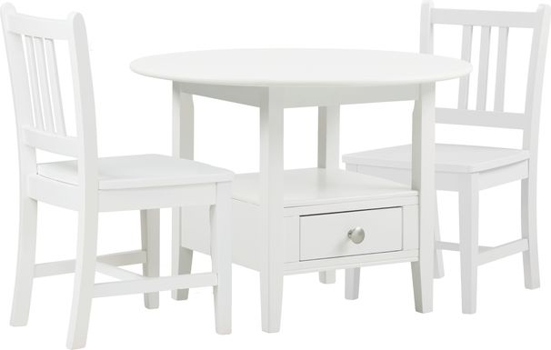 Kids Keagan White 3 Pc Table Set