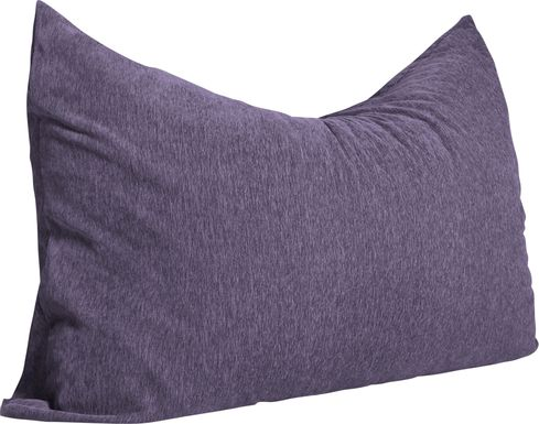 Kids Kimmy Purple Large Bean Bag Chair and Floor Pillow