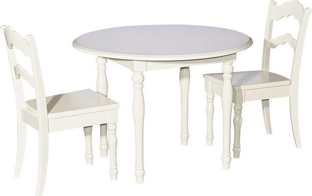 Kids Ladly Beige 3 Pc Table Set