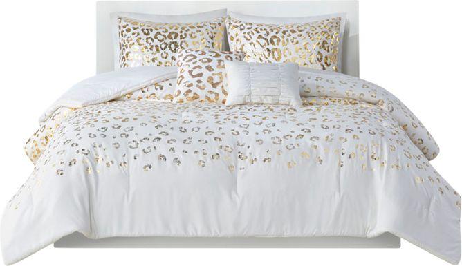 Kids Leopard Chic Ivory 5 Pc Full/Queen Comforter Set