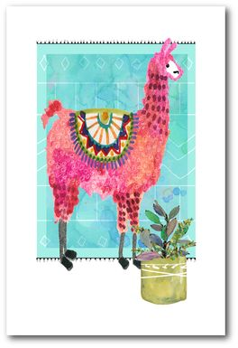 Kids Llama Snip I Blue Artwork