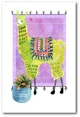 Kids Llama Snip II Purple Artwork