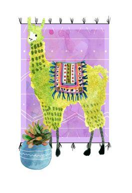 Kids Llama Snip II Purple Artwork