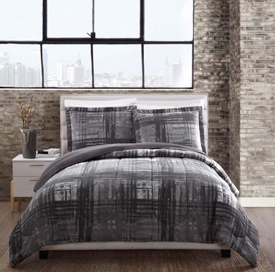 Kids Loft Life Graphite 3 Pc Full/Queen Comforter Set