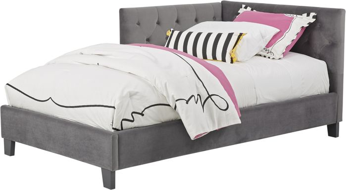 Kids Lucie Charcoal 3 Pc Twin Corner Bed