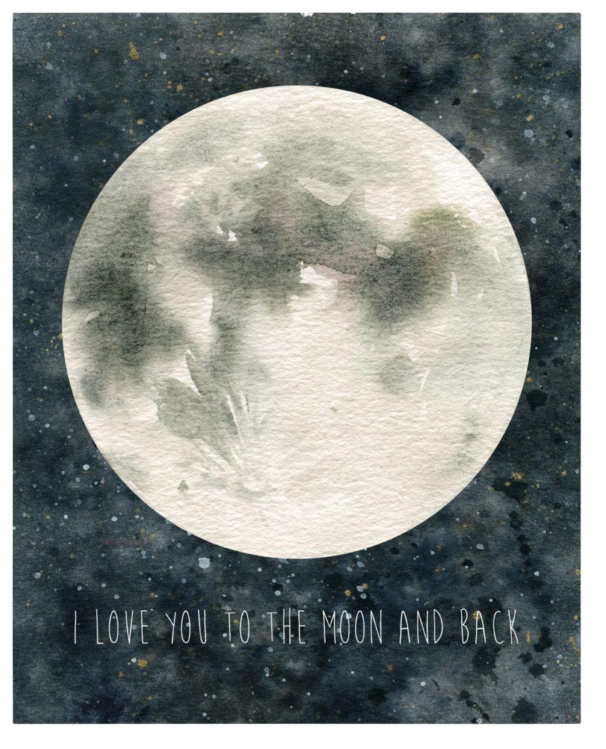 Kids Magical Moon Gray Artwork