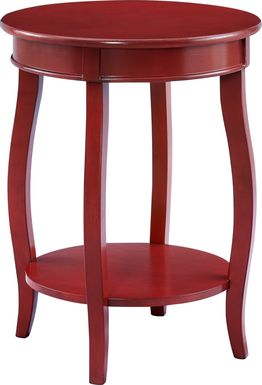 Kids Maliory Red Accent Table