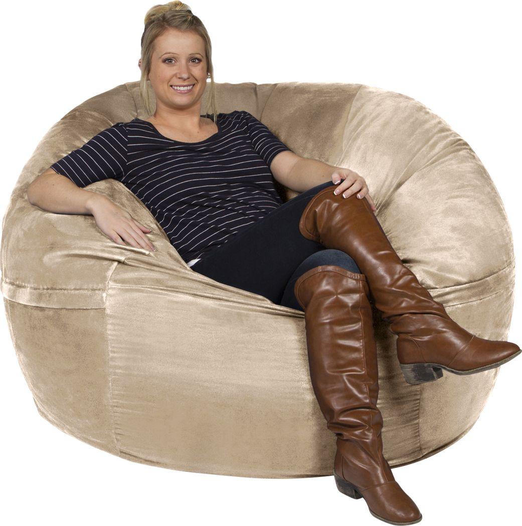 Kids Marshmellow Tan Large Bean Bag Chair