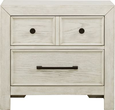 Kids Midcity Loft White Nightstand