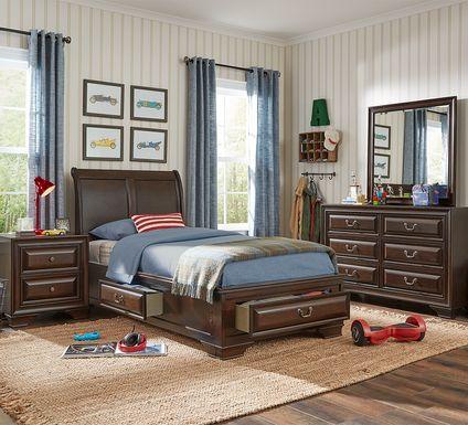 Kids Mill Valley Jr. Cherry 5 Pc Twin Storage Bedroom