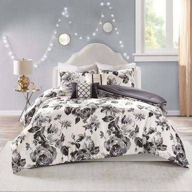 Kids Monochroma Black 4 Pc Twin XL Comforter Set