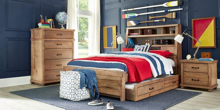 Kids Montana 2.0 Driftwood 5 Pc Full Bookcase Bedroom