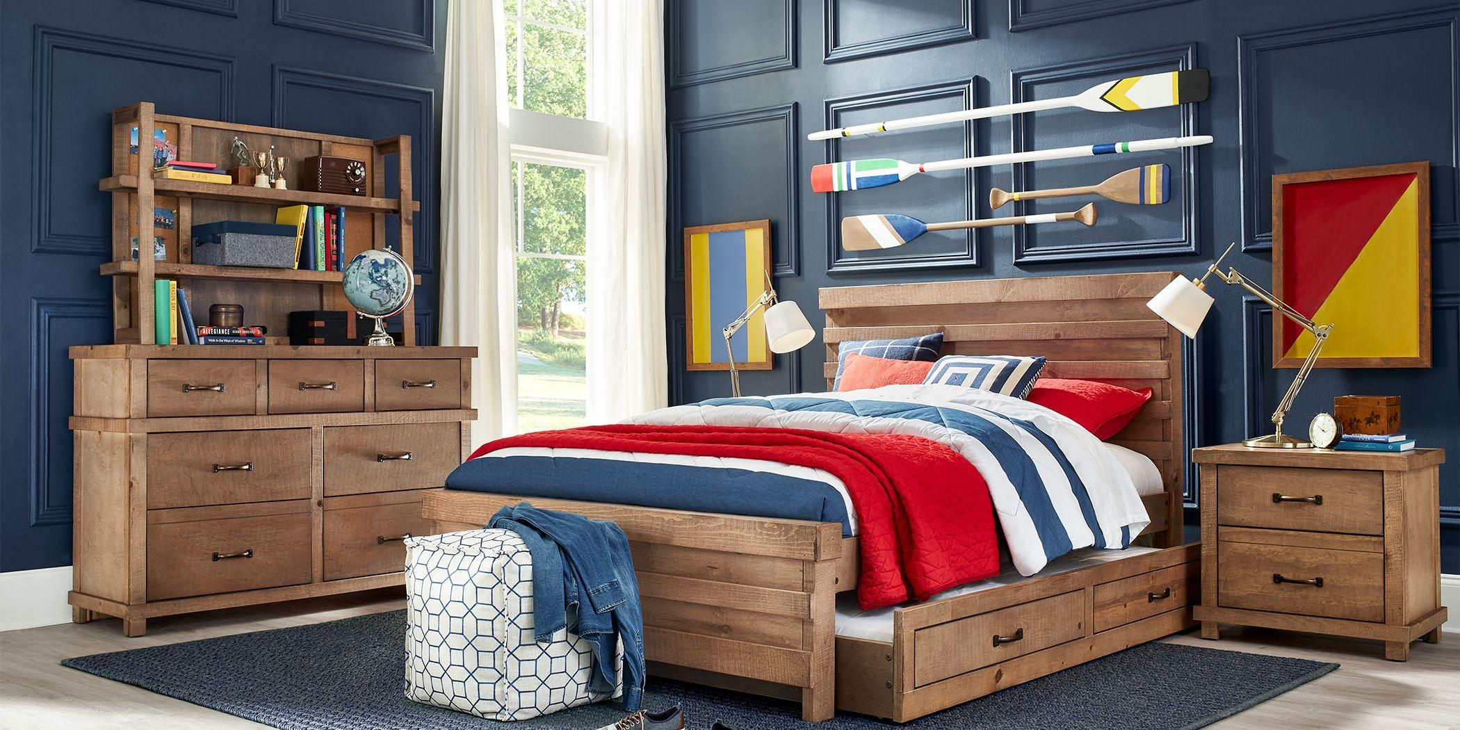 Kids Montana 2.0 Driftwood 5 Pc Twin Panel Bedroom