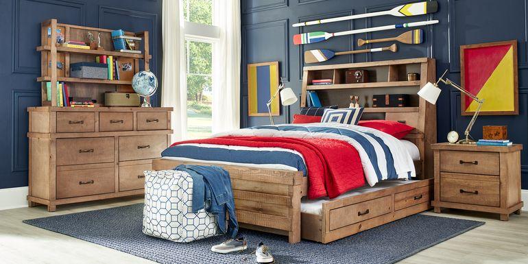 Kids Montana 2.0 Driftwood 5 Pc Twin Bookcase Bedroom