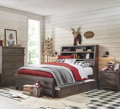 Kids Montana 2.0 Espresso 5 Pc Twin Bookcase Bedroom