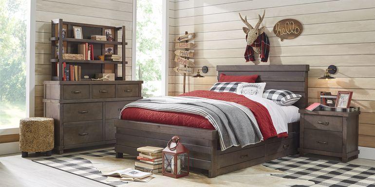 Kids Montana 2.0 Espresso 5 Pc Twin Panel Bedroom