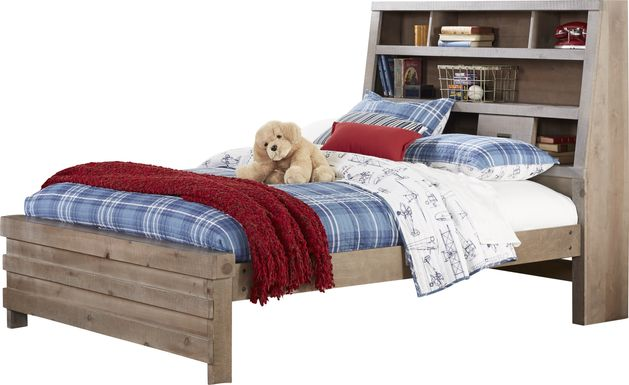 Kids Montana 2.0 Driftwood 3 Pc Twin Bookcase Bed