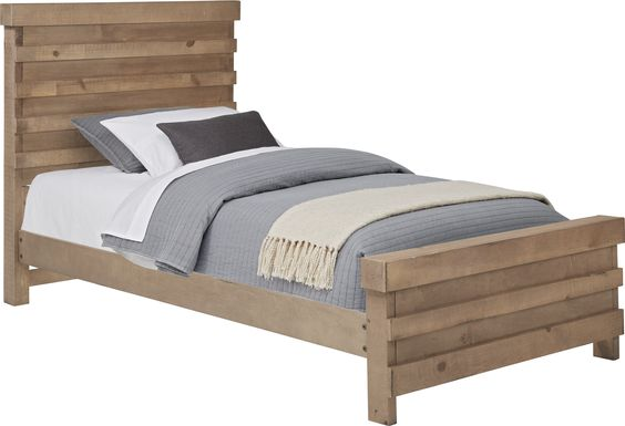 Kids Montana Driftwood 3 Pc Twin Panel Bed