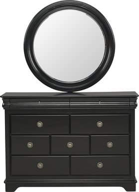 Kids Oberon Black Dresser & Mirror Set