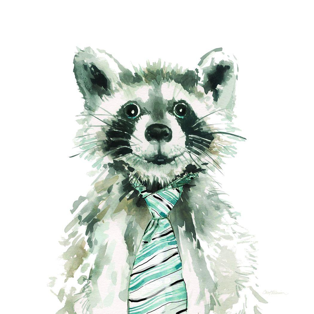 Kids Office Raccoon Gray Artwork