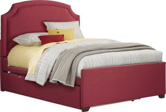 Kids Ophrie Red 3 Pc Full Bed with Twin Storage Trundle