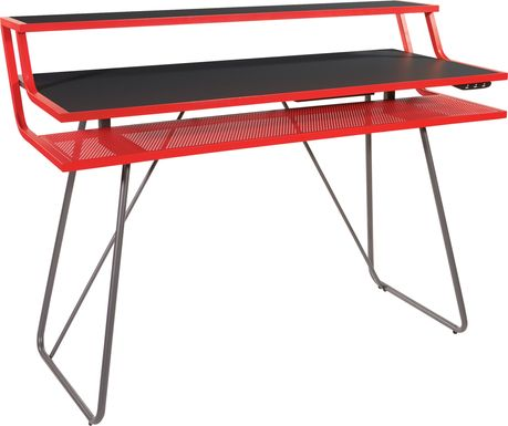 Kids Padme Red Gaming Desk