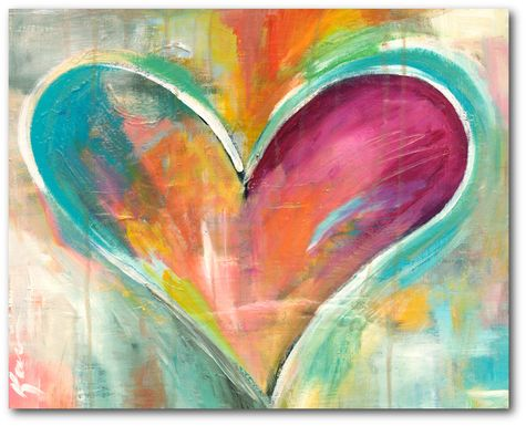 Kids Pastel Heart Orange Artwork