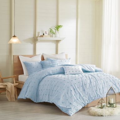 Kids Pastelle Blue 7 Pc Full/Queen Comforter Set