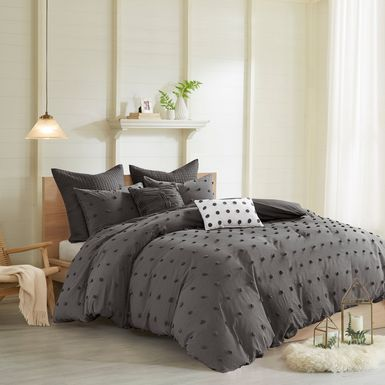 Kids Pastelle Charcoal 7 Pc Full/Queen Comforter Set