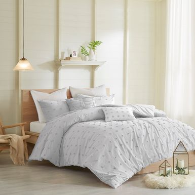 Kids Pastelle Gray 7 Pc Full/Queen Comforter Set