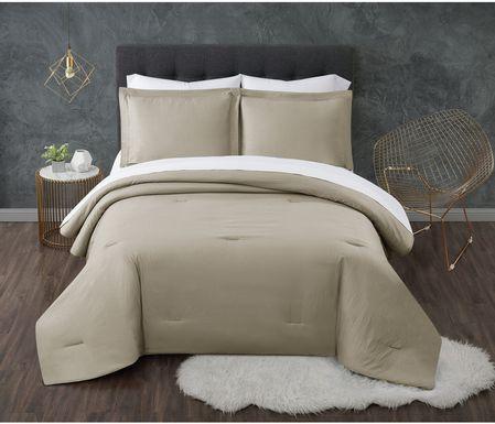 Kids Pasty Fields Beige 7 Pc Full Comforter Set
