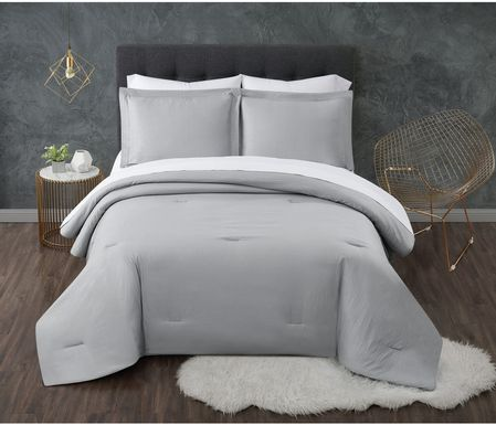 Kids Pasty Fields Gray 5 Pc Twin Comforter Set