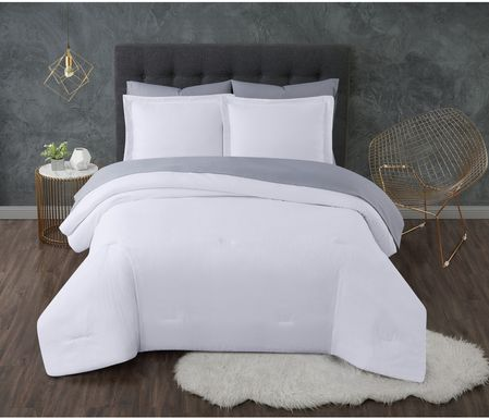 Kids Pasty Fields White 7 Pc Full Comforter Set