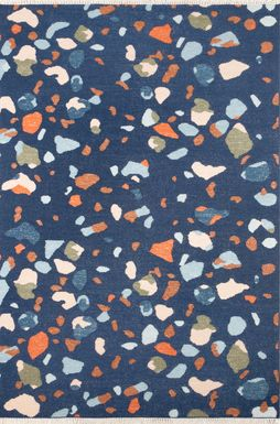 Kids Pebble Patch Navy 5' x 7'6 Rug