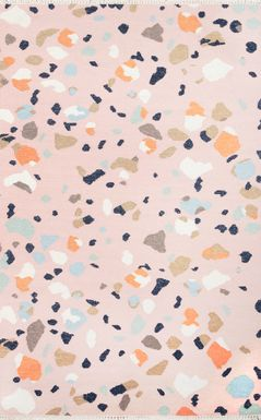Kids Pebble Patch Pink 5' x 7'6 Rug