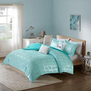 Kids Penmare Aqua 4 Pc Twin Comforter Set