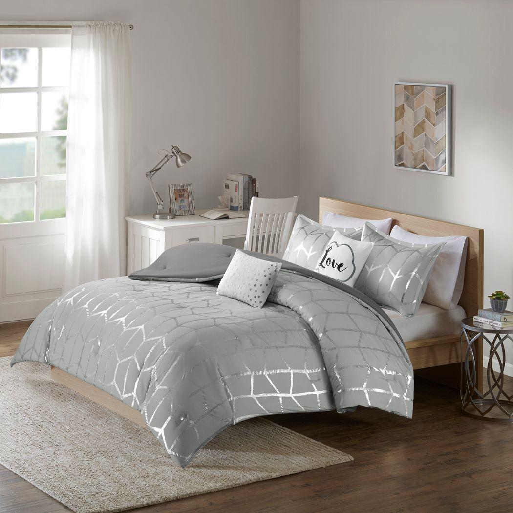 Kids Penmare Gray 4 Pc Twin Comforter Set