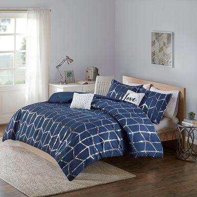 Kids Penmare Navy 4 Pc Twin Comforter Set